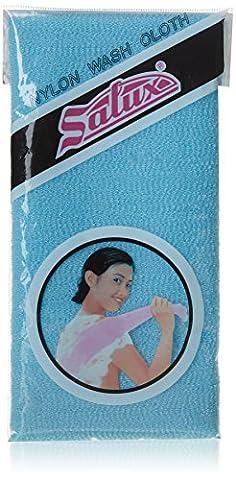 Salux Japanese Beauty Skin Wash Cloth - Beauty Towel/ Scrub/ Nylon Wash Cloth/Bath Body Shower - Blue