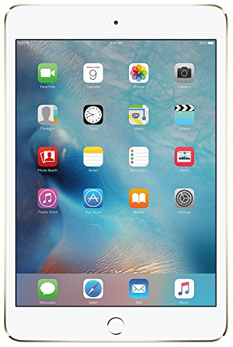 Apple iPad without Facetime Tablet - Apple iPad Mini 4 without Facetime Tablet - 7.9 Inch, 128GB, 4G LTE, Gold