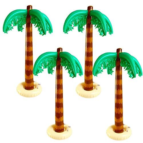 Aneco 4 Stücke Riesig Aufblasbar Palme Baum für Luau Party Dekor Strand Hintergrund