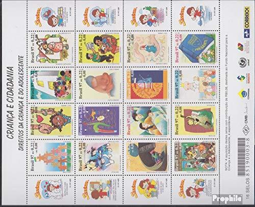 Prophila Collection Brasilien 2778-2793 Zd-Bogen (kompl.Ausg.) 1997 Kinder und Bürgerrechte (Briefmarken für Sammler)