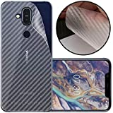 Case Creation Ultra Thin Slim Fit 3M Clear Transparent 3D Carbon Fiber Back Skin Rear Screen Guard Protector Sticker Protective Film Wrap Not Glass for Nokia 8.1 (2018) (Carbonn)