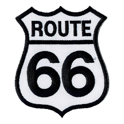 Aufnäher Bügelbild Iron on Patches Applikation Route 66 Biker Usa