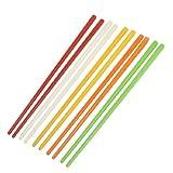 """TOOGOO(R)5 Paar Plastik Chinesische Essstaebchen 8,7"""" Laenge-Rot&Elfenbein&Orange&Gruen&Gelb"""