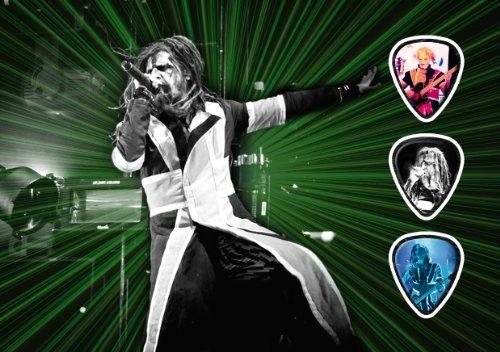 Rob Zombie (JC) Live Performance Unframed Chitarra Plettro Display