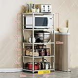Willsego Lagerregal Küchenregal Küchenregale Lagerregal Rack Mikrowelle Regal Backofen Utensilien Rahmen Stehend Küche Lagerregale (Farbe : -, Größe : -)