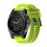 Reloj banda, weant Silicagel correa de banda de instalación rápida de repuesto para Garmin Fenix 5x GPS reloj banda de banda de ancho 26mm, longitud: 220mm, 0.08 pounds, color verde