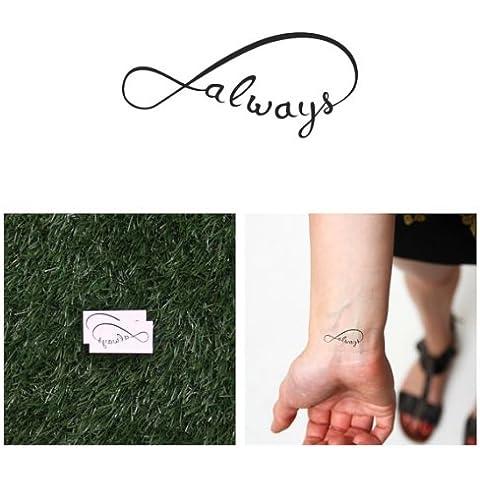 Tatuaje Temporal Tattify - Siempre infinito - Contigo (juego de 2)