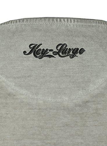 Key Largo Herren T-Shirt REBEL im Vintage Look mit Tiger Print Safari Jungle Dschungel Rebell Grau