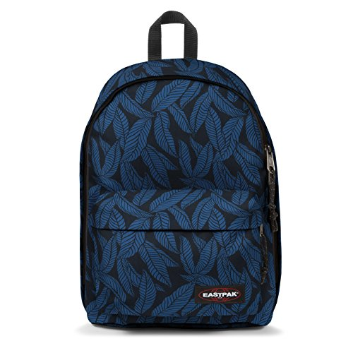 Eastpak Out Of Office Sac à  dos, 44 cm, 27 L, Bleu (Leaves Blue)