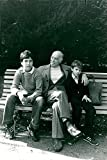 Vintage photo of Carlo Ponti, film director and Sophia Lorens man, with his two sons Carlo and Eduardo
