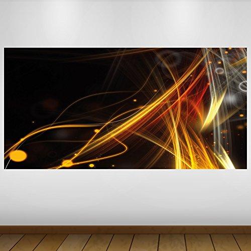 LagunaProject Extra Grand Lumière Orange Vinyle Abstrait Sticker Autocollant Affiche Poster -140cm x 70cm