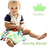 INCHANT Baby-Geschenk-Set - Taggie Sicherheitsdecke mit Silikon-Kautable Dentitionspielzeug Beißring