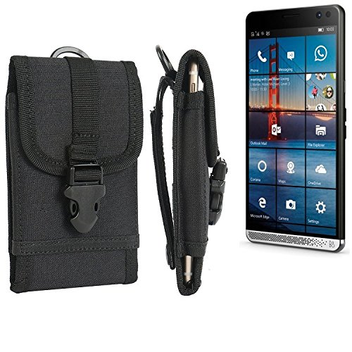 K-S-Trade Handyhülle für HP Elite x3 Gürteltasche Handytasche Gürtel Tasche Schutzhülle Robuste Handy Schutz Hülle Tasche Outdoor schwarz