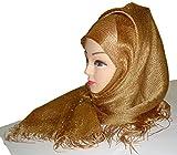 Justkartit Women'S Cotton Hijab (Jk4320_Golden_Free Size)