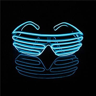 Lerway Neon El Wire LED Light Up Shutter Fashion Funny Glasses + Voice Controller - low-cost UK light shop.