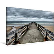 Premium Textil-Leinwand 75 cm x 50 cm quer, Omaha Beach | Wandbild, Bild auf Keilrahmen, Fertigbild auf echter Leinwand, Leinwanddruck (CALVENDO Orte)
