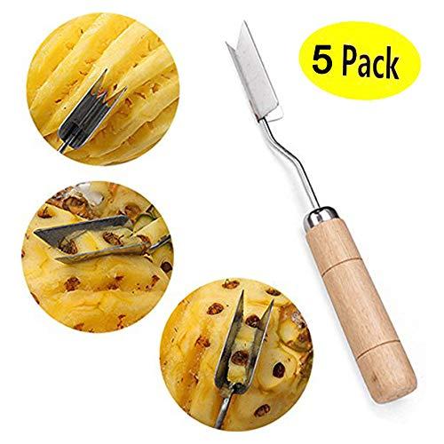 L.smx accessori per la cucina in acciaio inox a forma di v ananas pelapatate tagliatore corer affettatrice taglia frutta non rifiuti (5 pezzi)