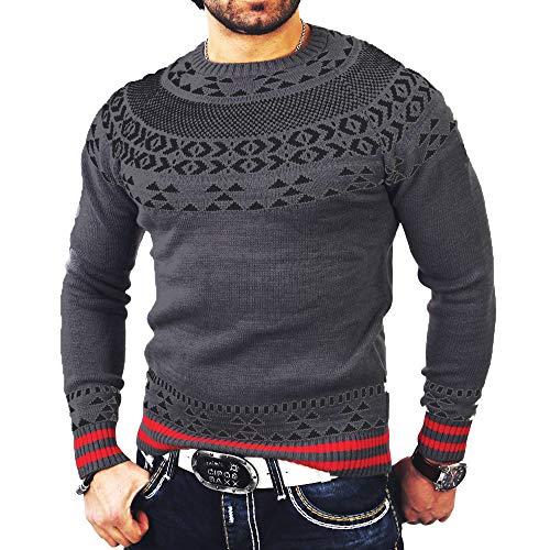 ITISME TOPS Herren Herbst Winter Solide Pullover Print Gestrickte Truteneck Pullover Bluse Top Winter Warm halten
