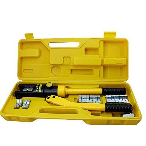 VINGO® Hydraulische Presszange Crimpzange 10-300 mm² Quetschzange Kabelschuhe Zange Hydraulisch