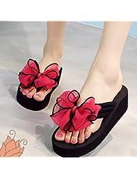 Confortevole L estate porta gli scivoli dell arco I pistoni selvaggi  dell alto tallone femminile adatta i sandali… a83d77217bf