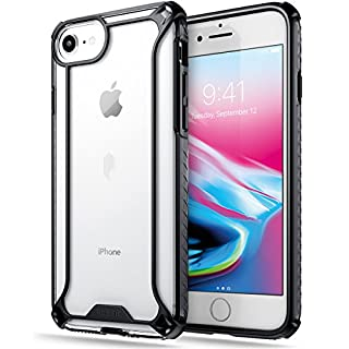 Poetic iPhone 7 / iPhone 8 Case, Affinity Series Premium Thin/No Bulk/Clear/Dual material Protective Bumper Case for Apple iPhone 7 / iPhone 8 (2017) Black/Clear