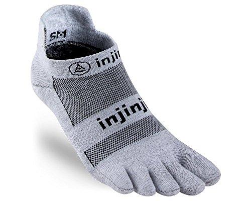 Injinji Run Xtralife Lightweight No Show Socks Men Gray Schuhgröße XL | EU 47,5+ 2018 Laufsocken (Running No Show Sock)