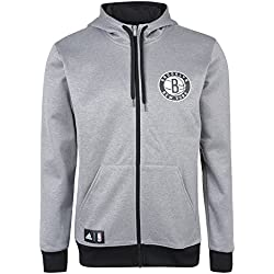 adidas FNWR Fleece Hood - Sudadera para hombre, color gris / blanco, talla M