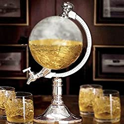 Dispensador de liquidos, agua, cerveza, vino anti salpicaduras en forma de bola del mundo