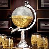 Dispensador de bebidas con forma de bola del mundo para agua, cerveza, vino, licores ...