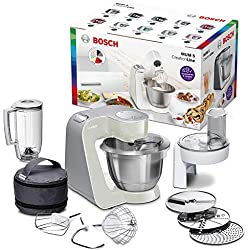 Bosch MUM58L20 Machine Compacte pour Cuisine 1000 W, 3,9 L, Gris Minéral/Argent