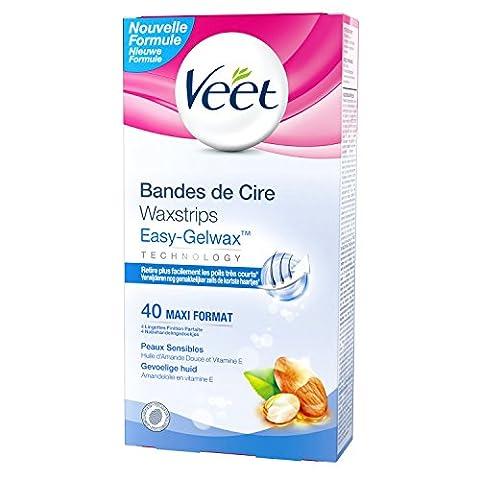 Veet - Bandes de Cire Froide - Peaux Sensibles - x 40
