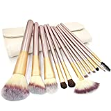 Nestling® New 12 PCS Augenbrauen Kamm Wimpern Make-up für Braut High-End Brush Set Make up Tool Set