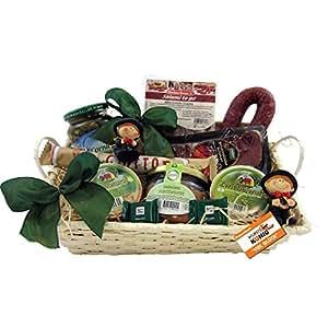 Viel Glück Geschenk-Korb Präsentkorb (6072) mit Delikatessen und Süßigkeiten und Figuren. Glücksgeschenke von Wurst-König