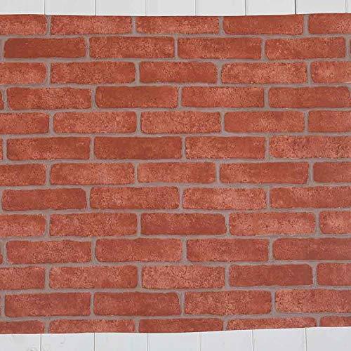 CXZC 3D Hintergrund Wandaufkleber Brick Wallpaper Wall Brick Muster Selbstklebende Zimmer, 24 x 20...