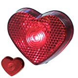 1 x LED Herz Rot Blinklicht Oktoberfest Valentinstag Love Wiesen Liebe Schule Kind Reflektor