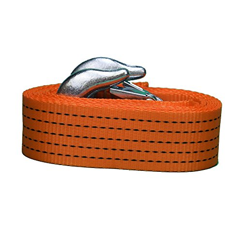 Tech Traders® Corde de remorquage pour véhicule pesant jusqu'à 5 tonnes, Très résistante, 3,5m de long