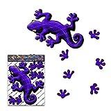 Best tabletas ventana - Etiqueta engomada animal del gecko del púrpura para Review
