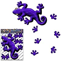 Etiqueta engomada animal del gecko del púrpura para las caravanas de los carros del coche - ST00031PL_SML - JAS Stickers