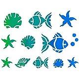 Plantilla para pintar, diseño de animales marinos, 15 x 20 cm