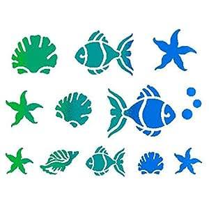 Pochoir d 20x 15cm poissons–Stamperia kSD04