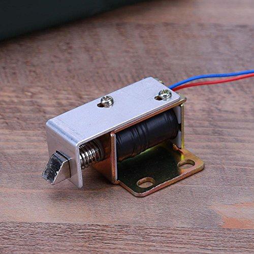 asiproper 6V/12V/24V Elektrisches Schloss Zylinder Smart elektromagnetisches Schloss für Tür