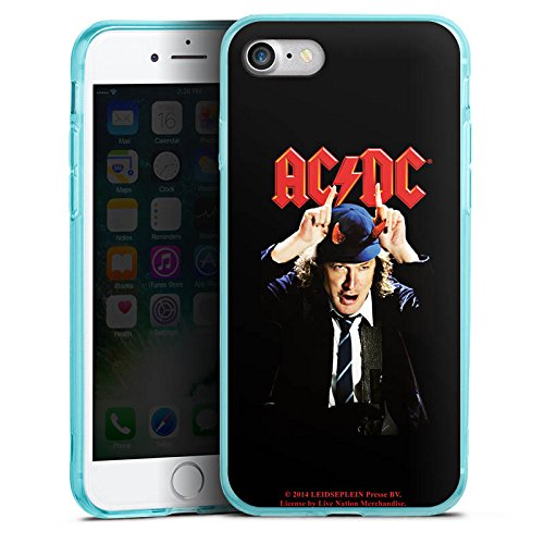 Apple iPhone 8 Silikon Hülle Case Schutzhülle ACDC Merchandise Fanartikel Riverplate Silikon Colour Case eisblau