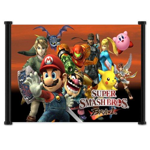 Super Smash Bros Brawl 'Fabric Wall Scroll Poster (63,50 cm x (16 (25 40,64 cm)'