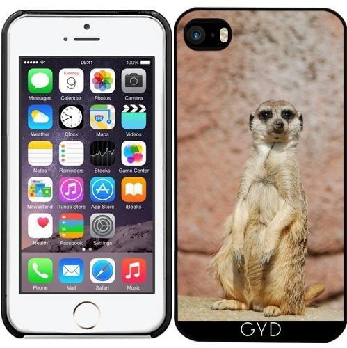 Leder Flip Case Tasche Hülle für Apple iPhone 6/6S - Erdmännchen by WonderfulDreamPicture Starre Kunststoff