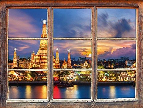 voir-wat-arun-temple-bangkok-thailande-nuit-fenetre-en-3d-look-mur-ou-format-vignette-de-la-porte-92