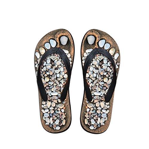 Thikin da uomo/donna/ragazza/ragazzo Cobble stampa unico Brasile Summer Hot toe post infradito sandali da spiaggia piscina vari stili e colori Cobble1