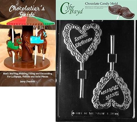 Cybrtrayd Sweet Sixteen Lolly Buchstaben und Zahlen Schokolade Candy Form mit Chocolatier
