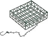 dobar 10146 Vogelfutter-Korb zum Aufhängen, Robuster Drahtkorb-Halter für Energieblöcke, grün