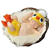 DAYAN neugeborene Baby-nette Ente Wollmütze Kostüm Fotografie Prop Outfit Set