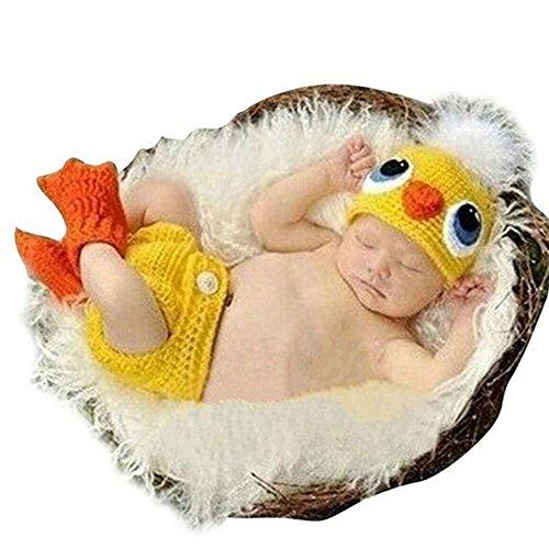 Kostüm Ente Baby - DAYAN neugeborene Baby-nette Ente Wollmütze Kostüm Fotografie Prop Outfit Set